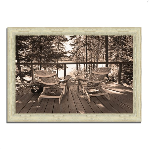 Framed Photograph Print 51 In. x 36 In. At The Lake Multi Color