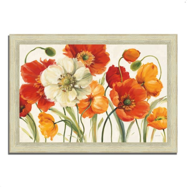 Framed Painting Print 63 In. x 44 In. Poppies Melody I by Lisa Audit Multi Color