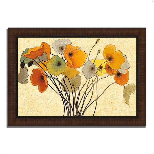 Framed Painting Print 63 In. x 44 In. Pumpkin Poppies I by Shirley Novak Multi Color