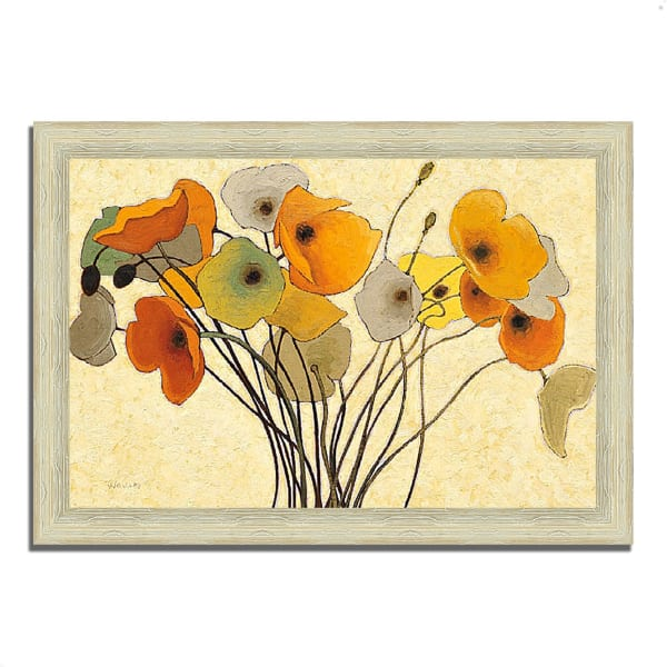 Framed Painting Print 42 In. x 30 In. Pumpkin Poppies I by Shirley Novak Multi Color