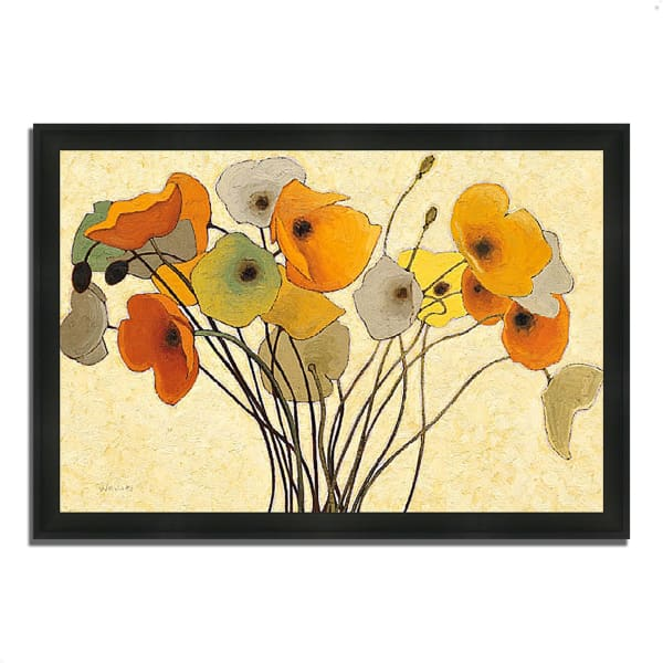 Framed Painting Print 39 In. x 27 In. Pumpkin Poppies I by Shirley Novak Multi Color