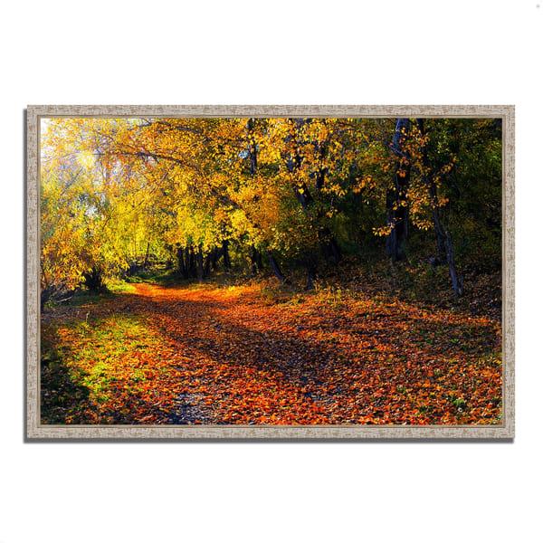 Fine Art Giclee Print on Gallery Wrap Canvas 38 In. x 26 In. Auburn Trail Multi Color