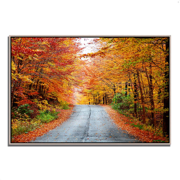 Fine Art Giclee Print on Gallery Wrap Canvas 32 In. x 22 In. Autumn Afternoon Multi Color