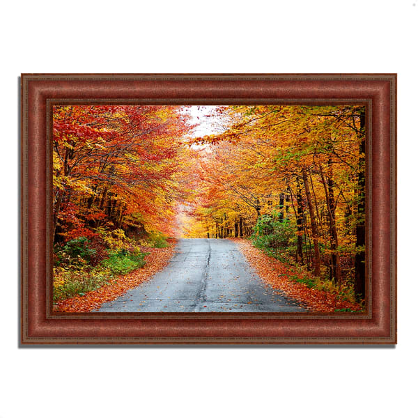 Framed Photograph Print 37 In. x 27 In. Autumn Afternoon Multi Color