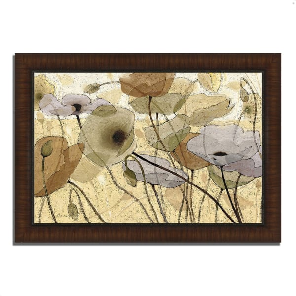 Framed Painting Print 42 In. x 30 In. Fluidity IV by Shirley Novak Multi Color