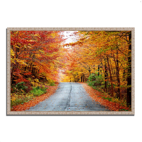 Fine Art Giclee Print on Gallery Wrap Canvas 59 In. x 40 In. Autumn Afternoon Multi Color