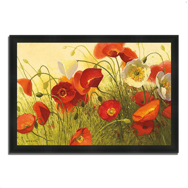 Framed Painting Print 60 In. x 41 In. Havin a Heat Wave by Shirley Novak Multi Color