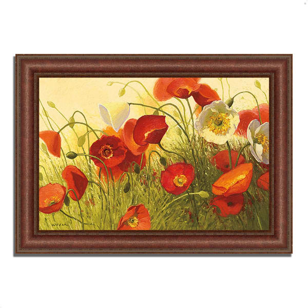 Framed Painting Print 52 In. x 37 In. Havin a Heat Wave by Shirley Novak Multi Color