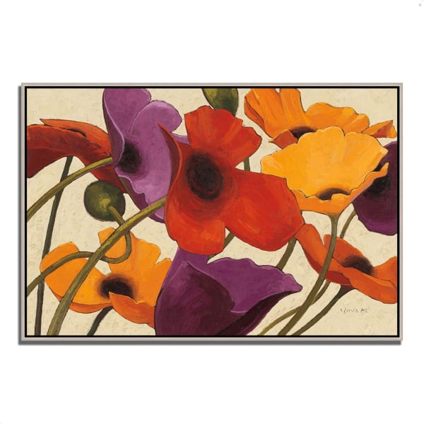 Fine Art Giclee Print on Gallery Wrap Canvas 38 In. x 26 In. Up Three by Shirley Novak Multi Color