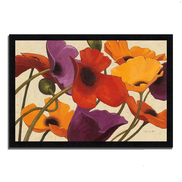 Framed Painting Print 60 In. x 41 In. Up Three by Shirley Novak Multi Color