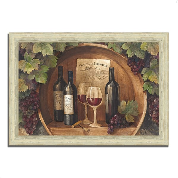 Framed Painting Print 36 In. x 26 In. At the Winery by Albena Hristova Multi Color