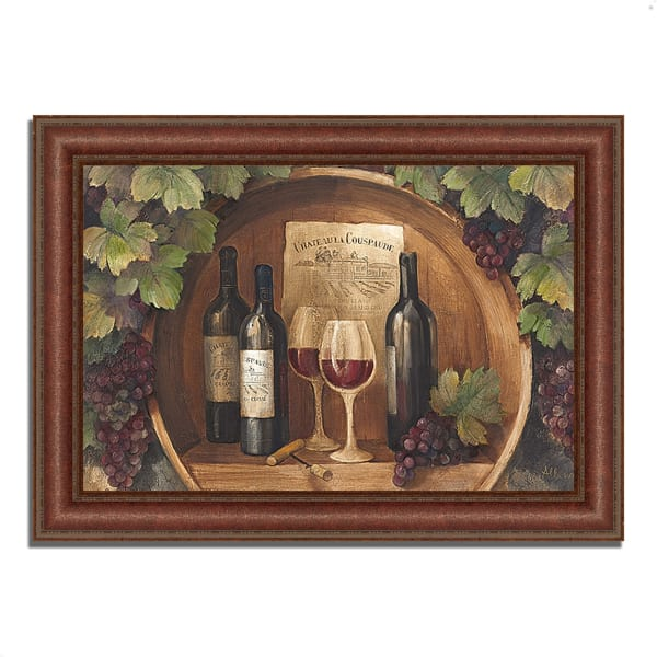 Framed Painting Print 37 In. x 27 In. At the Winery by Albena Hristova Multi Color