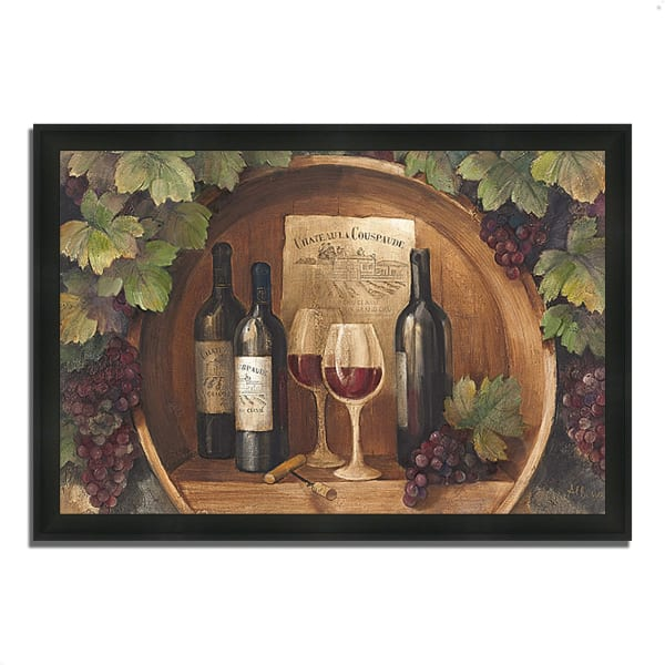 Framed Painting Print 46 In. x 33 In. At the Winery by Albena Hristova Multi Color