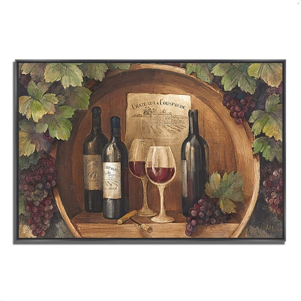 Fine Art Giclee Print on Gallery Wrap Canvas 59 In. x 40 In. At the Winery by Albena Hristova Multi Color