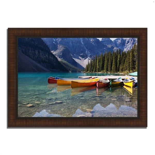 Framed Photograph Print 42 In. x 30 In. Lake Moraine Multi Color
