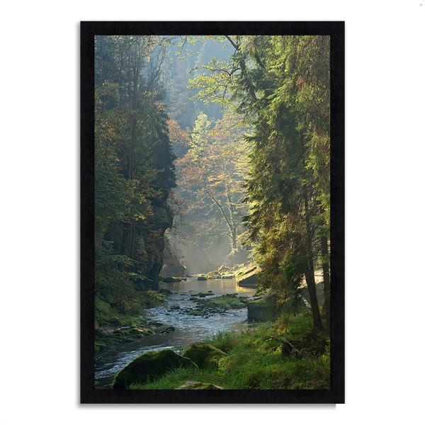 Framed Photograph Print 33 In. x 23 In. Paradise Found Multi Color