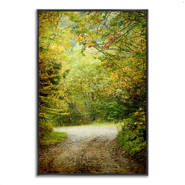 Fine Art Giclee Print on Gallery Wrap Canvas 32 In. x 22 In. Summers End Multi Color