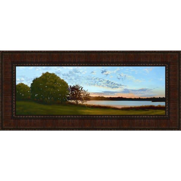 Lakeside Sunrise By Julie Peterson, Framed Wall Art,