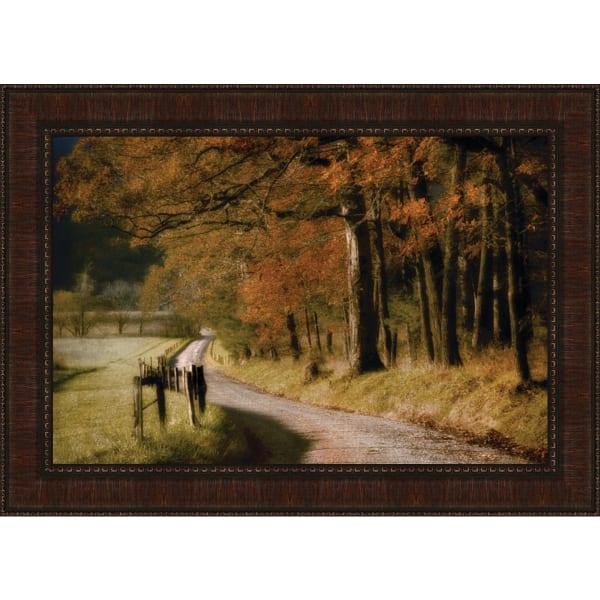 Autumn'S Morning Light By D. Burt, Framed Wall Art,