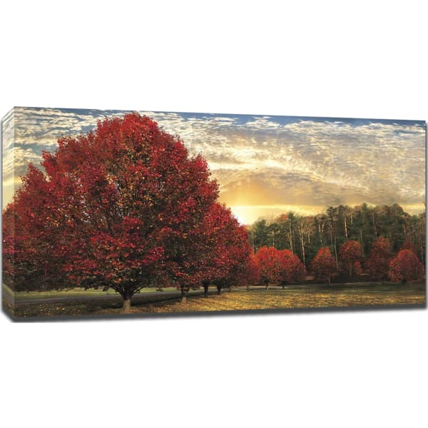 Crimson Trees By Celebrate Life Gallery, Giclee Print on Gallery Wrap Canvas