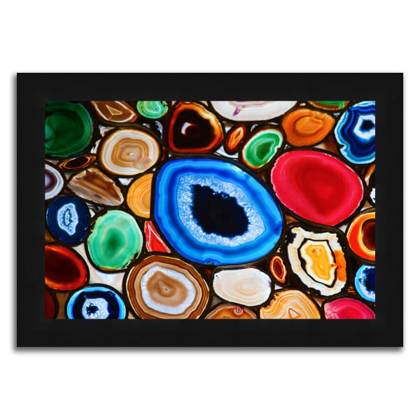 Blue and Red Geodes Framed Photograph Print in Acrylic Finish