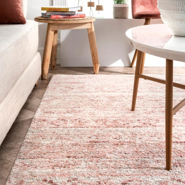Transitional Moroccan Hattie 8' x 10' Pink Rug