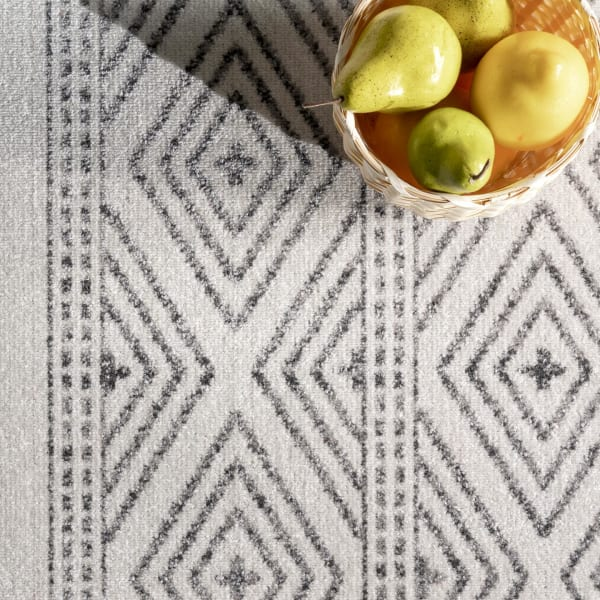 Outdoor Striped Miriam 8' x 10' Gray Rug