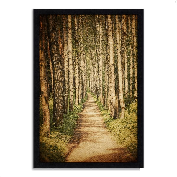 Framed Photograph Print 27 In. x 39 In. The Old Aspen Trail Multi Color