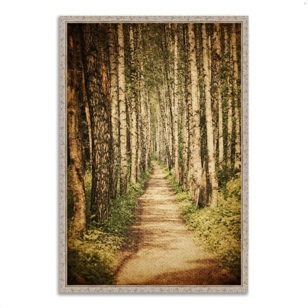 Fine Art Giclee Print on Gallery Wrap Canvas 32 In. x 47 In. The Old Aspen Trail Multi Color