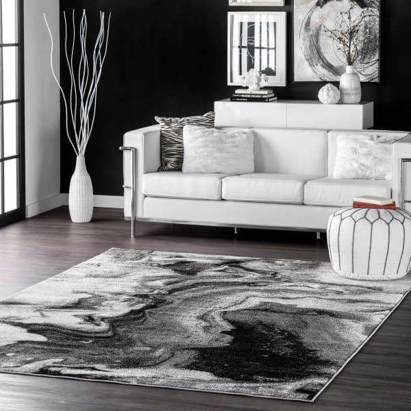 Remona Abstract 5' x 8' Gray Rug