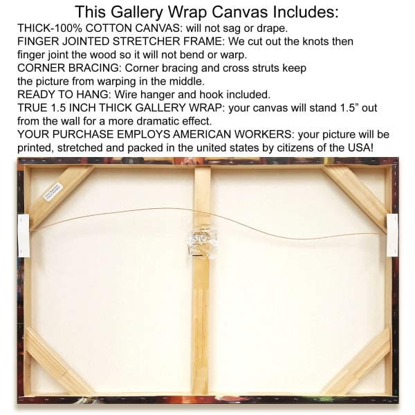 Fine Art Giclee Print on Gallery Wrap Canvas 38 In. x 26 In. Invitation to Relax Multi Color
