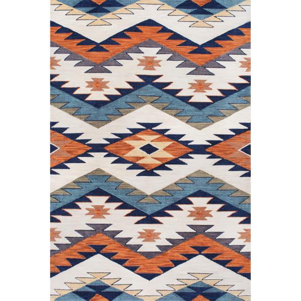 Hand Hooked Tribal Rhona 5' x 8' Multi Rug