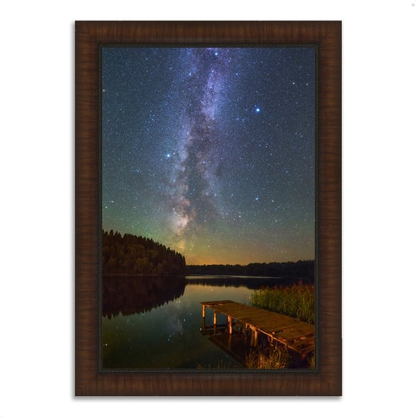 Framed Photograph Print 26 In. x 36 In. Northern Sky Multi Color