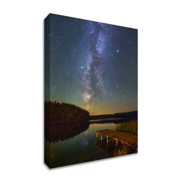 Fine Art Giclee Print on Gallery Wrap Canvas 38 In. x 57 In. Northern Sky Multi Color