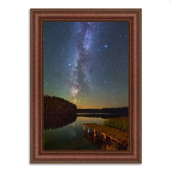 Framed Photograph Print 37 In. x 52 In. Northern Sky Multi Color