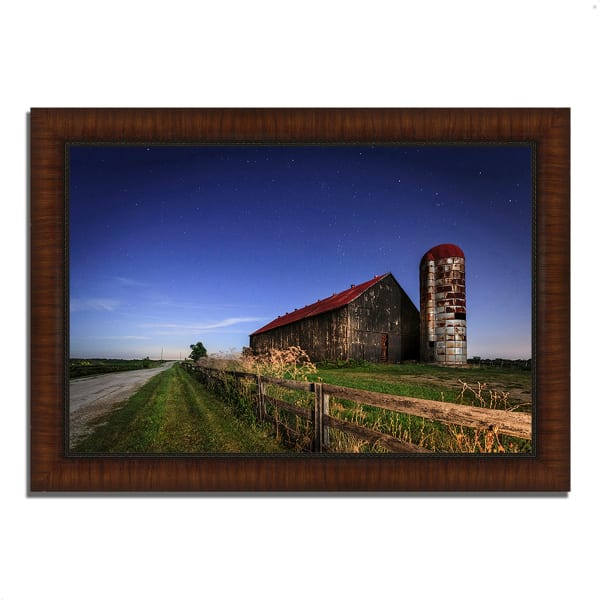 Framed Photograph Print 42 In. x 30 In. So God Made a Farmer Multi Color