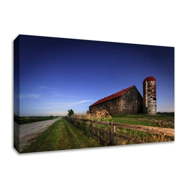 Fine Art Giclee Print on Gallery Wrap Canvas 36 In. x 24 In. So God Made a Farmer Multi Color