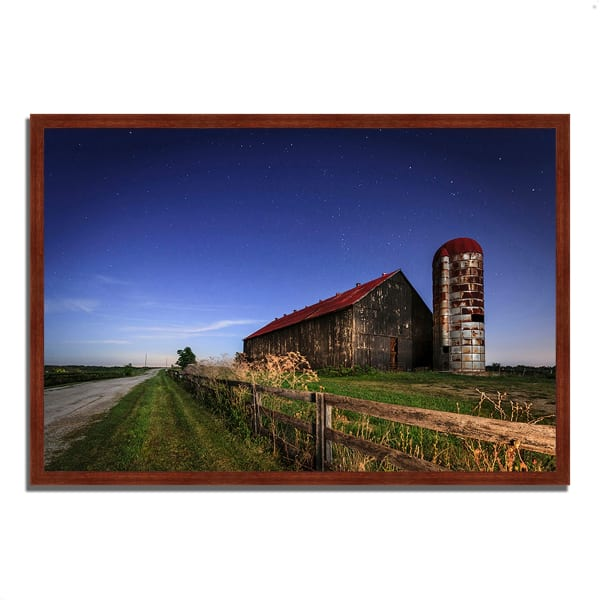 Framed Photograph Print 59 In. x 40 In. So God Made a Farmer Multi Color