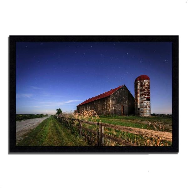 Framed Photograph Print 60 In. x 41 In. So God Made a Farmer Multi Color