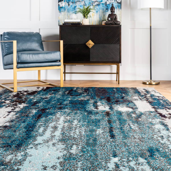 Abstract Haydee 8' x 10' Blue Rug