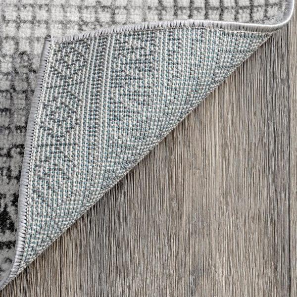 Harper Mosaic Tribal Stripes 8' x 10' Gray Rug