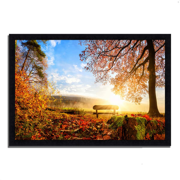 Framed Photograph Print 39 In. x 27 In. Warmly Illumining Multi Color