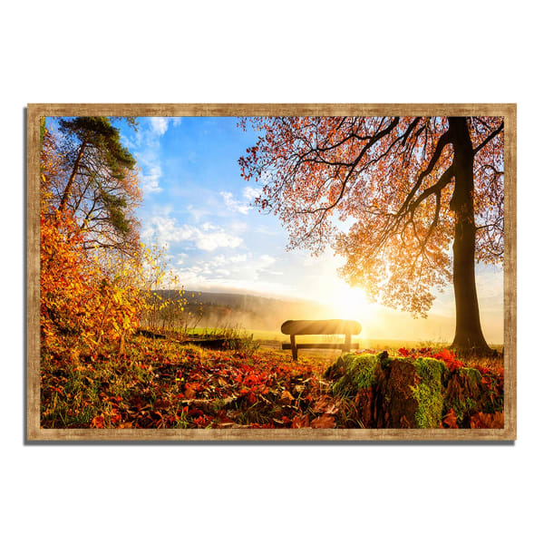 Framed Photograph Print 59 In. x 40 In. Warmly Illumining Multi Color