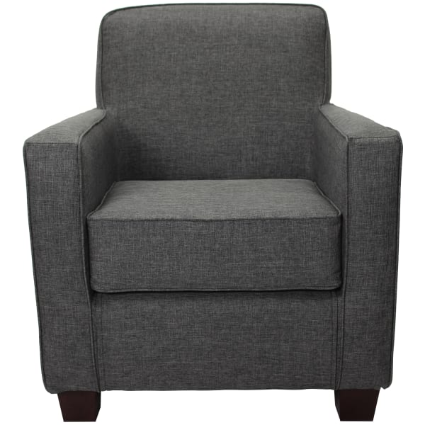 Gray Track Arm Lounge Chair