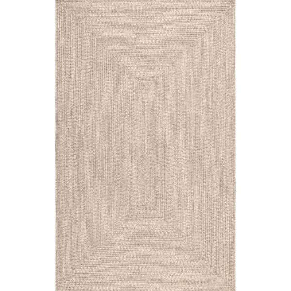 Braided Lefebvre Indoor/Outdoor 5' x 8' Tan Rug