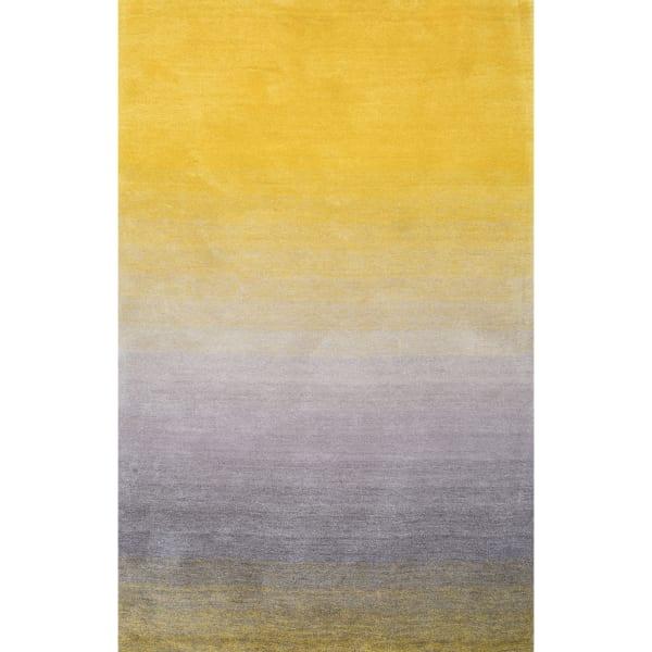 Handmade Ombre Shag 5' x 8' Yellow Rug