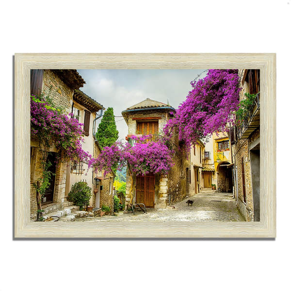 Framed Photograph Print 36 In. x 26 In. Bougainvillea Lane Multi Color