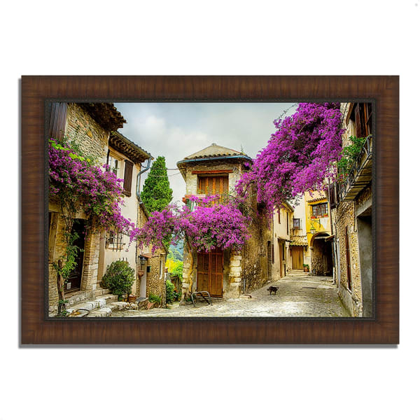 Framed Photograph Print 51 In. x 36 In. Bougainvillea Lane Multi Color