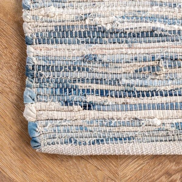 Maile 5' x 8' Blue Cotton Rug