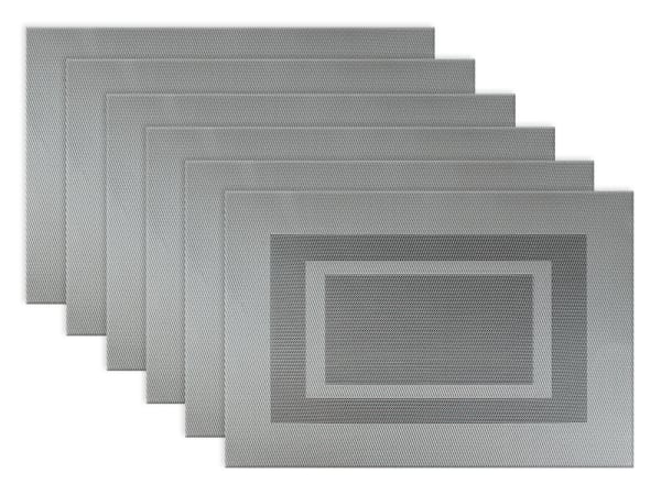 Double Frame Gray Placemats Set of 6